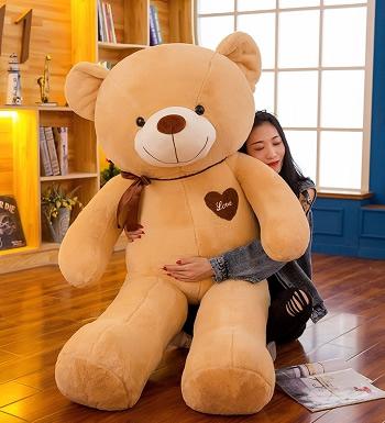 韩国恋人1米棕色大抱熊