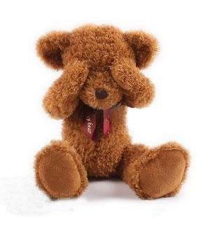 害羞熊 不看不听不说熊