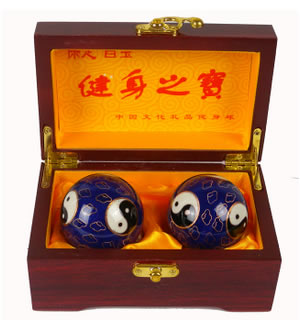 景泰蓝福寿健身球 保定铁球