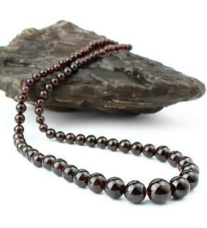 天然石榴石项链