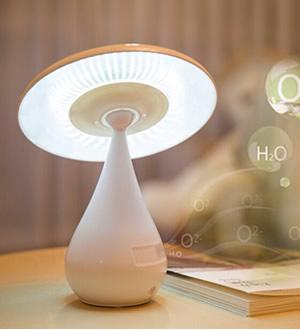 蘑菇空气净化器台灯
